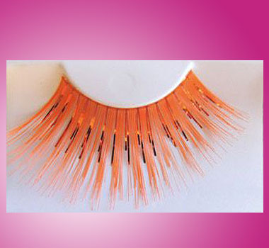 Wimpernkranz Orange-Metallic