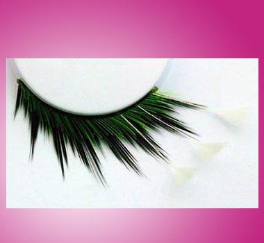 Federwimpern Schwarz-Grün-Weiß