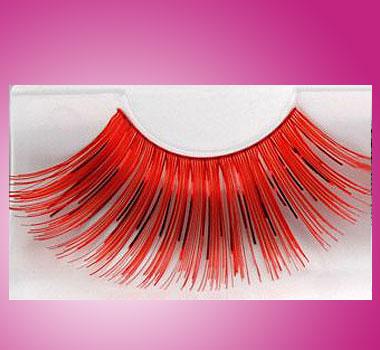 Wimpernkranz Rot-Metallic